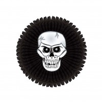 Halloween Skeleton Printed Paper Fan