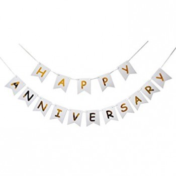 Happy Anniversary Foil Printed Letter Banner