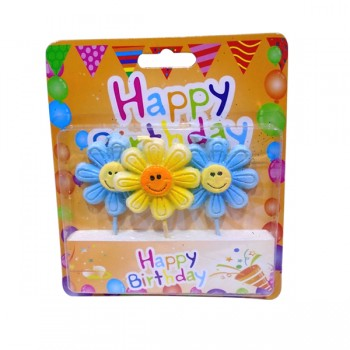 Happy Birthday Flower Candles