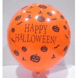 Happy Halloween Printed Led Latex Balloons (Pack of 5)