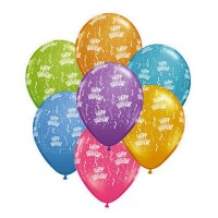 Assorted Happy Birthday Printed Balloons (Pack of 10 Pcs)