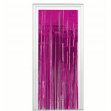 Hot Pink Foil Fringe Curtain (3 feet x 6 feet)