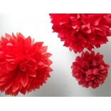 Red Pom Pom (Set of 3)