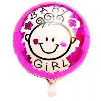 Baby Girl Round Foil Balloon