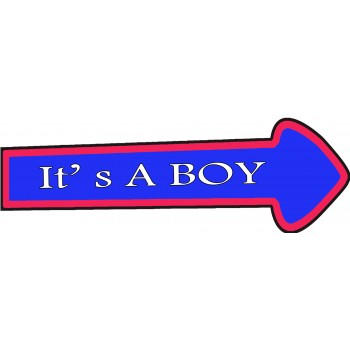 It's A Boy Placard