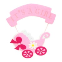 Its A Girl Hanging Pram