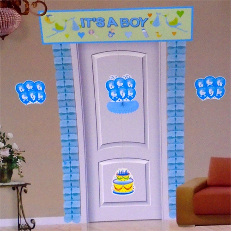 Its a boy theme 7 in 1 door decor pack for Baby boy door decoration