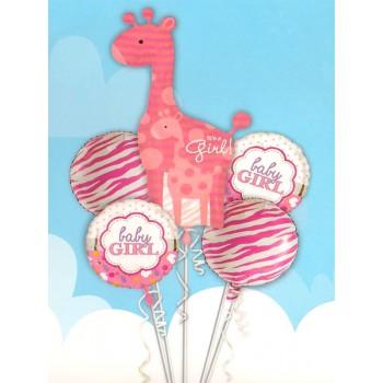Its A Girl Foil Balloons Set
