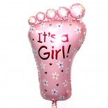 It's A Girl Foot Supershape Foil Balloon