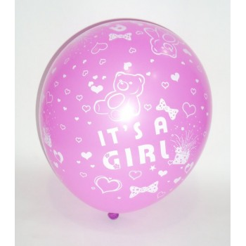 It's a Girl Printed Latex Balloons (Pack of 10)