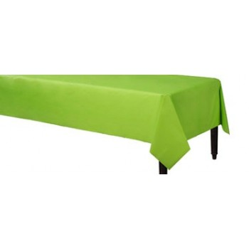 Solid Kiwi Green Color Plastic Table Cover