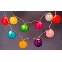 Shiny Cloth Lantern Lights Garland
