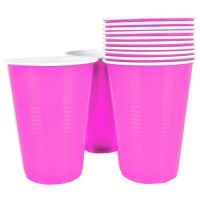 Light Pink Plastic Beer Pong Glasses (Pack of 20)