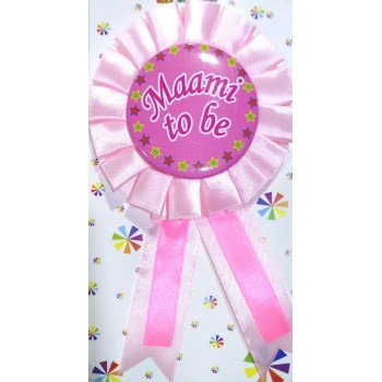 Baby Shower Maami To Be Badge