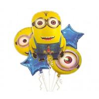 Minions Theme Foil Balloons Set
