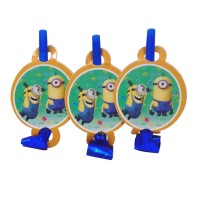 Minions Theme Paper Blow Out Whistles