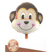 Monkey Face Super Shape Foil Balloon