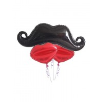 Moustache And Lips Balloons