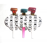 Moustache Theme Blowouts