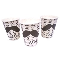 Moustache Theme Paper Cups
