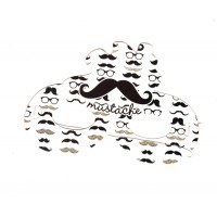 Moustache Theme Paper Eye Masks