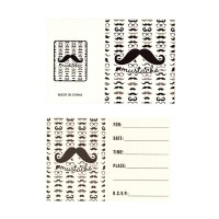 Moustache Theme Paper Invites