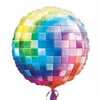 Multicolor Disco Ball Super Shape Foil Balloon