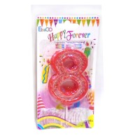 Multicolor Eight Number Candle