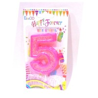 Multicolor Five Number Candle