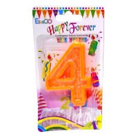Multicolor Four Number Candle