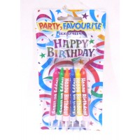 Multicolor Happy Birthday Candles