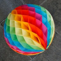 "Multicolor Honeycomb Balls 12"" (Pack of 2)"