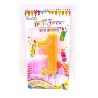 Multicolor One Number Candle