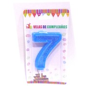 Multicolor Seven Number Candle