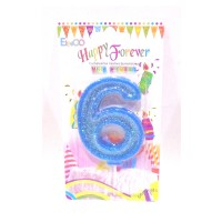 Multicolor Six Number Candle