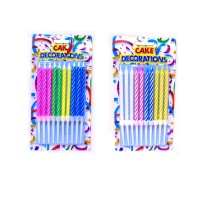 Multicolor Stripes Candles (1 Pack)