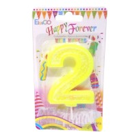 Multicolor Two Number Candle