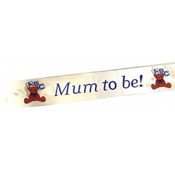 Mum To Be Light Peace Sash