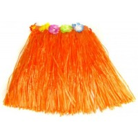 "16"" Orange Hawaiian Theme Skirt"