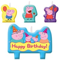 Peppa Pig Theme Candles (4 Pc)