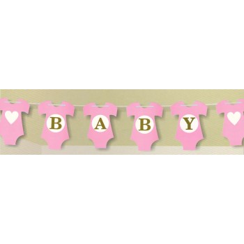 Pink Baby Letter Banner