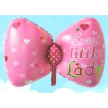 Sweet Little Lady Printed Supershape Bow Foil Balloon
