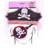 Pirate Theme Head Gear And Eye Patch