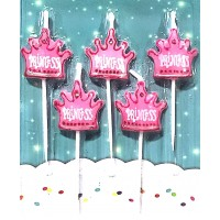 Princess Crown Shaped Candles (5 Pc)