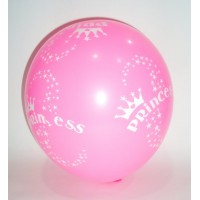 Light Pink Princess Printed Latex Balloons (Pack of 10)