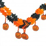 Halloween Paper Chain Pumpkin Hanging Garland Decoration