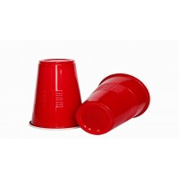 Red Plastic Beer Pong Glasses (20 Pcs)