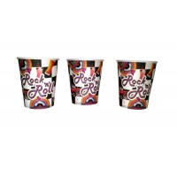 Rock n Roll Theme Paper Cups