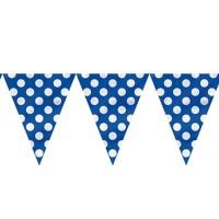 Royal Blue Polka Dot Paper Dangler