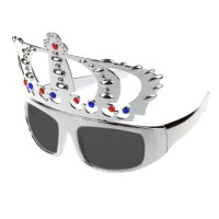 Silver Royal Crown Eye Glasses
